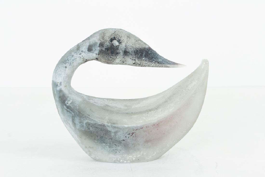 Modern Italian or French Art Glass Swan