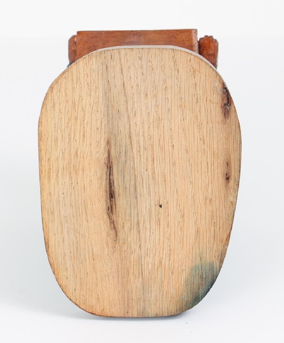 Folk Art Preacher Carved Wood Sculpture - 5