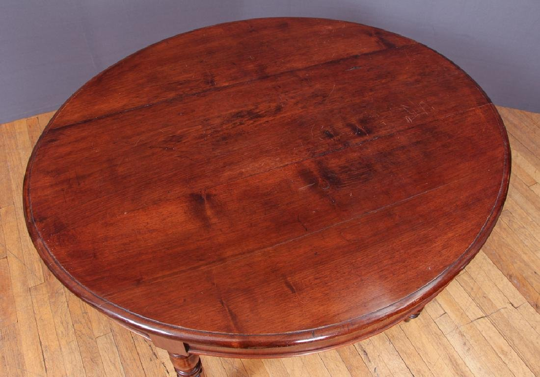 Antique William IV Dining Table and Six Chairs - 3