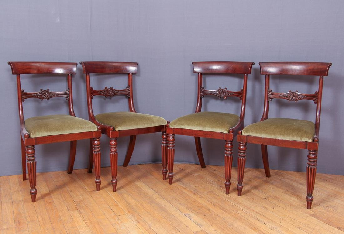 Antique William IV Dining Table and Six Chairs - 4