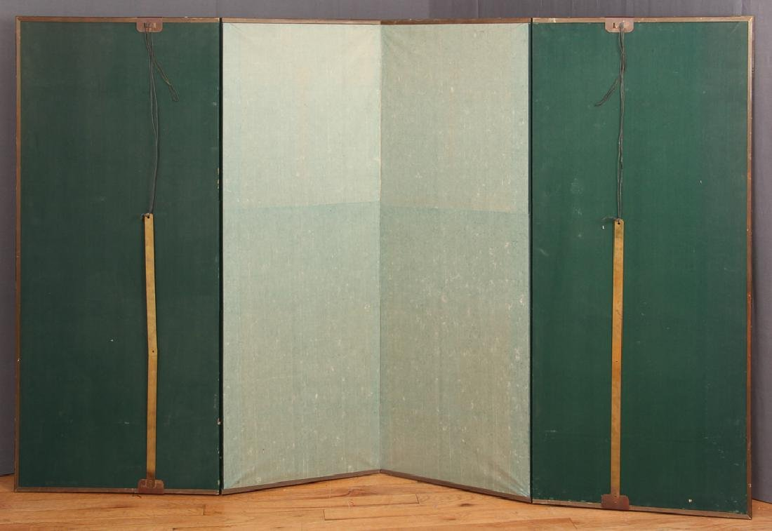 Small Four Panel Japanese Screen - 2