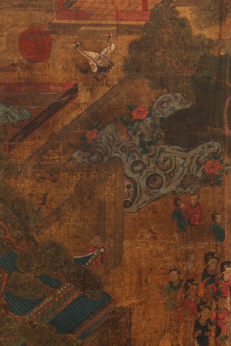 Small Four Panel Japanese Screen - 3