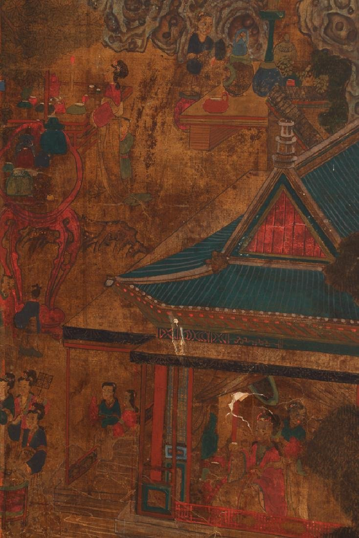 Small Four Panel Japanese Screen - 4
