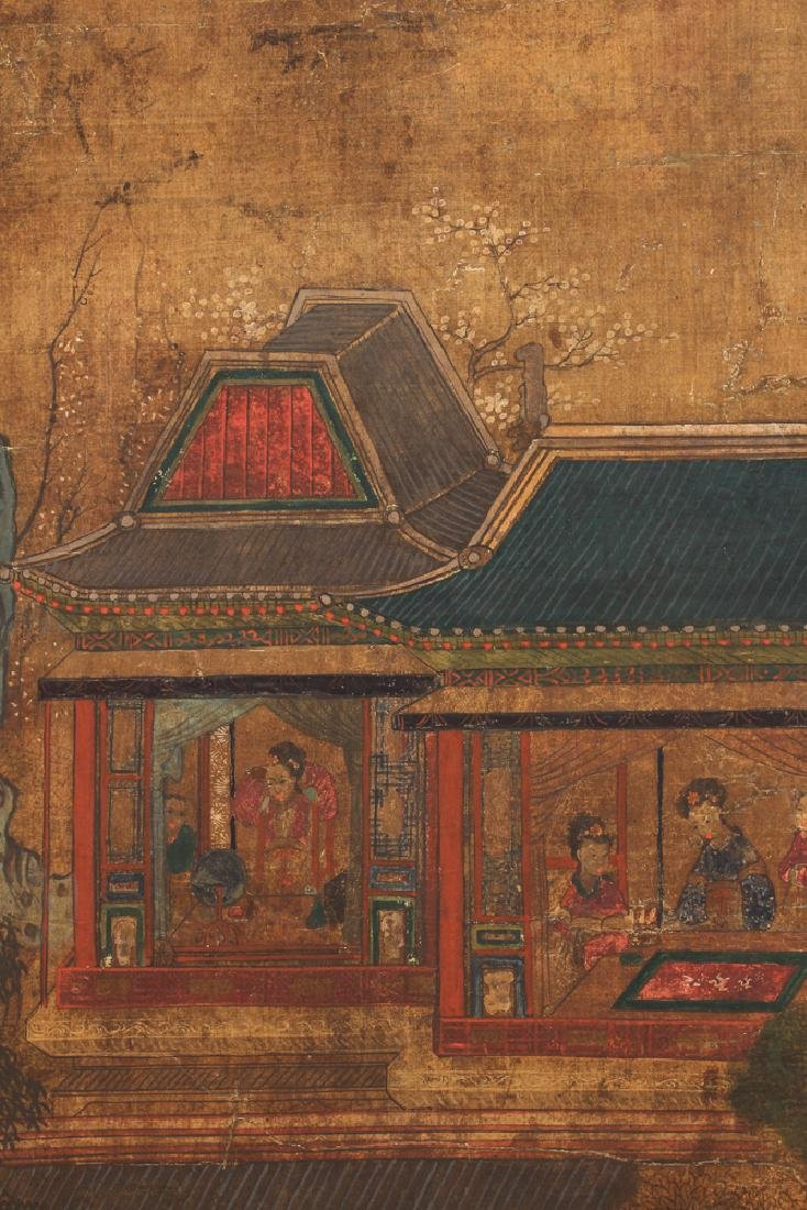 Small Four Panel Japanese Screen - 5