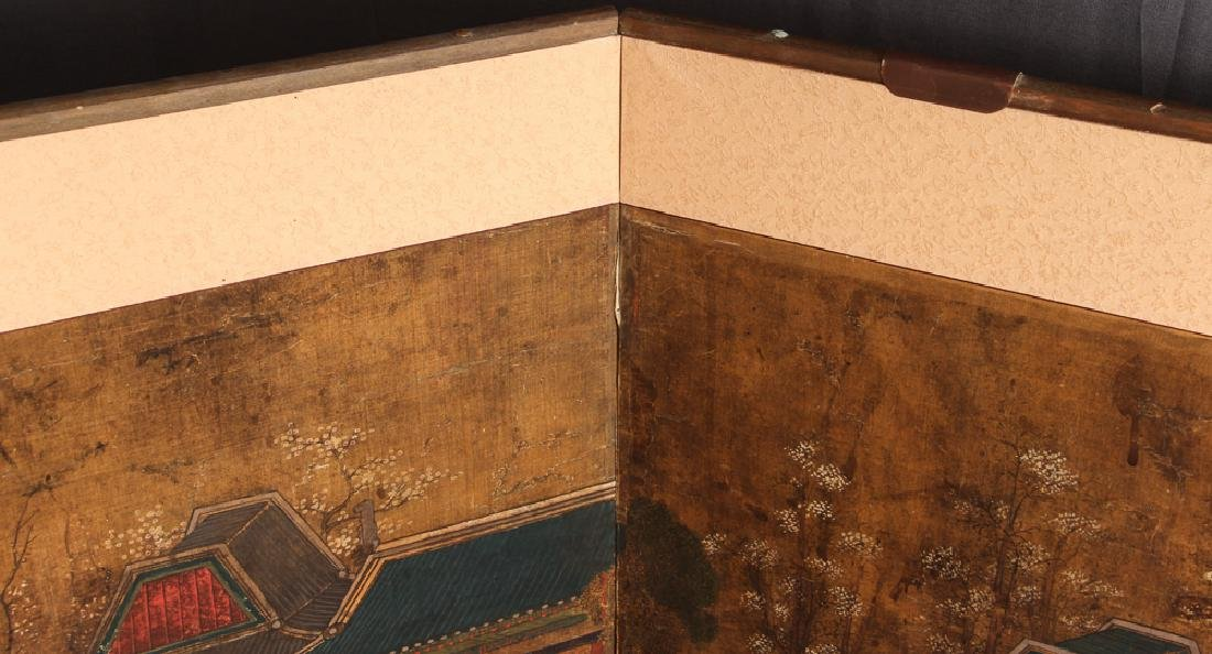 Small Four Panel Japanese Screen - 8