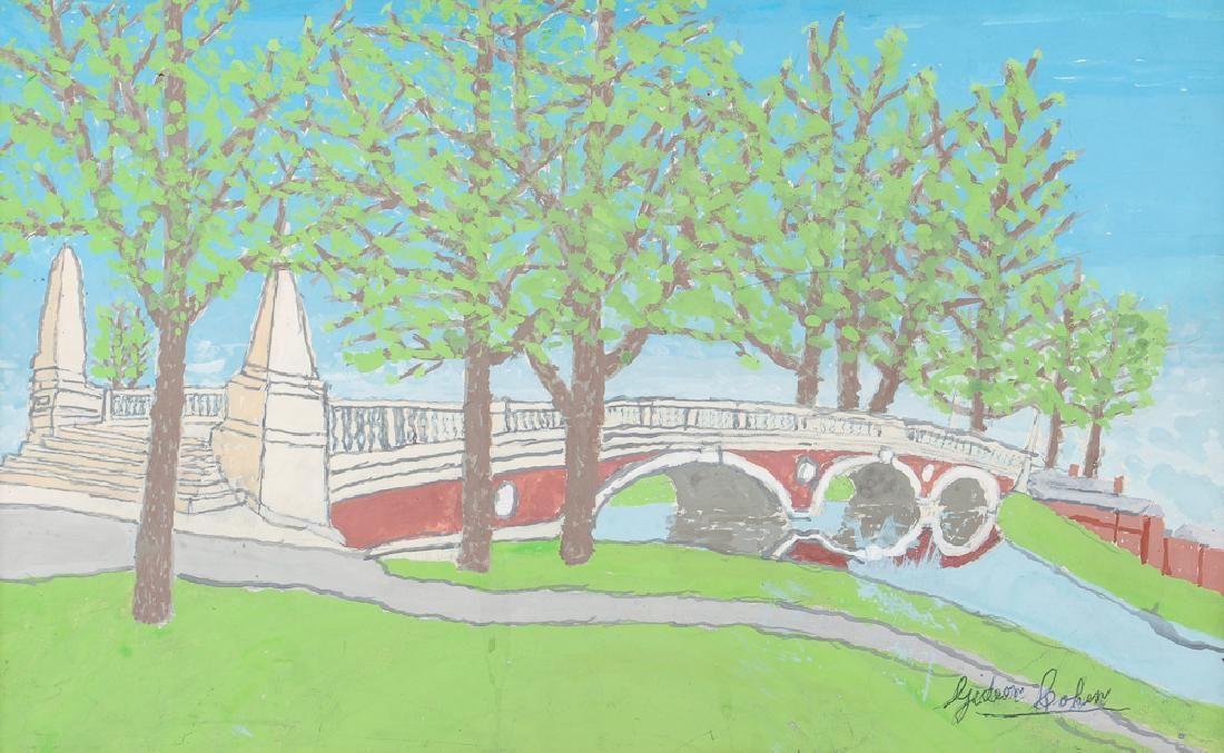 2 Gideon Cohen casein painting Weeks Footbridge,