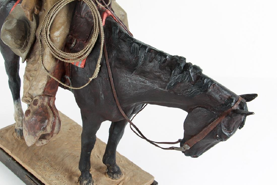 Harry Jackson 1964 painted bronze Cowboy Meditation - 10