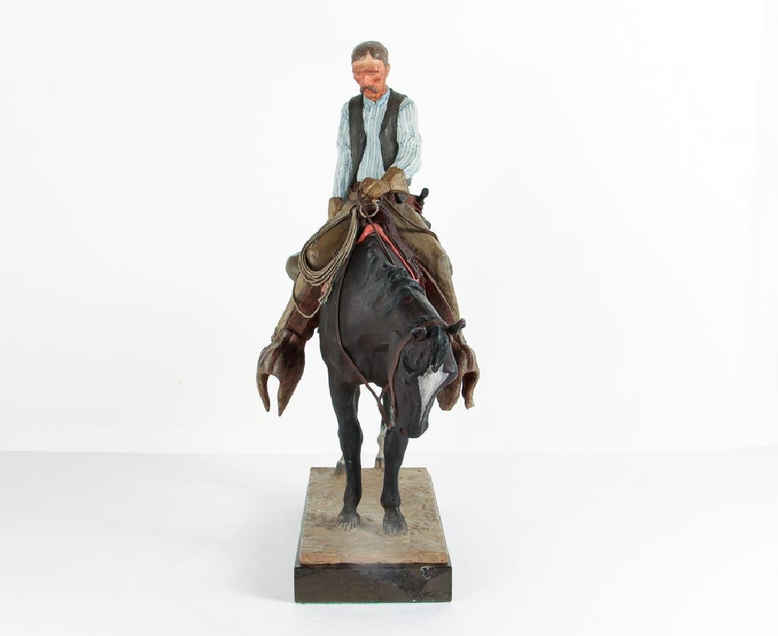 Harry Jackson 1964 painted bronze Cowboy Meditation - 2