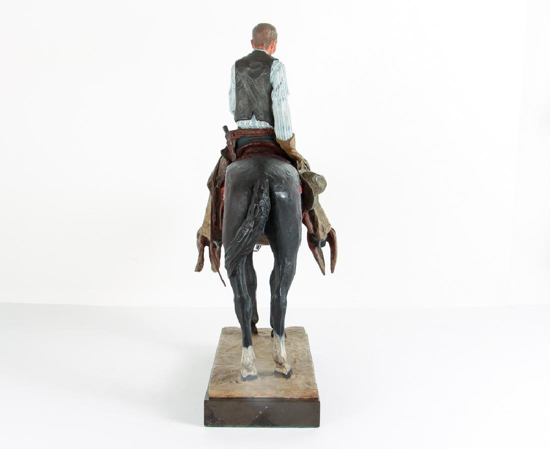 Harry Jackson 1964 painted bronze Cowboy Meditation - 4