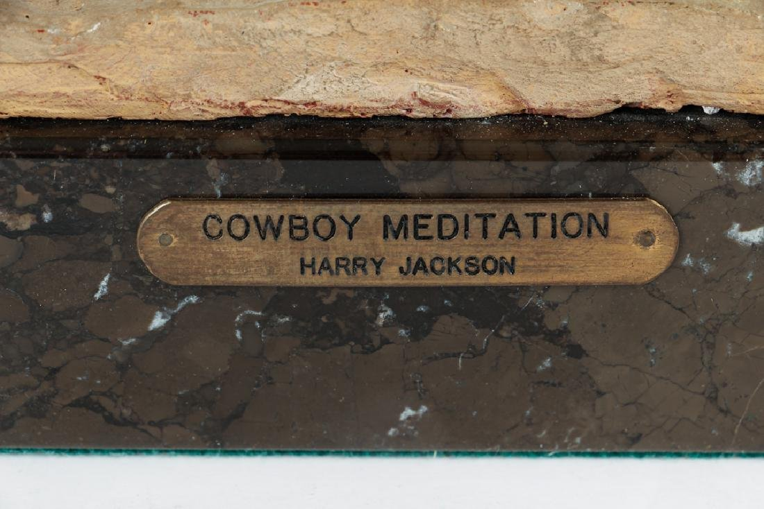 Harry Jackson 1964 painted bronze Cowboy Meditation - 6