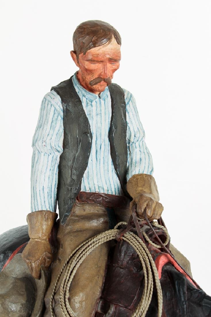 Harry Jackson 1964 painted bronze Cowboy Meditation - 9
