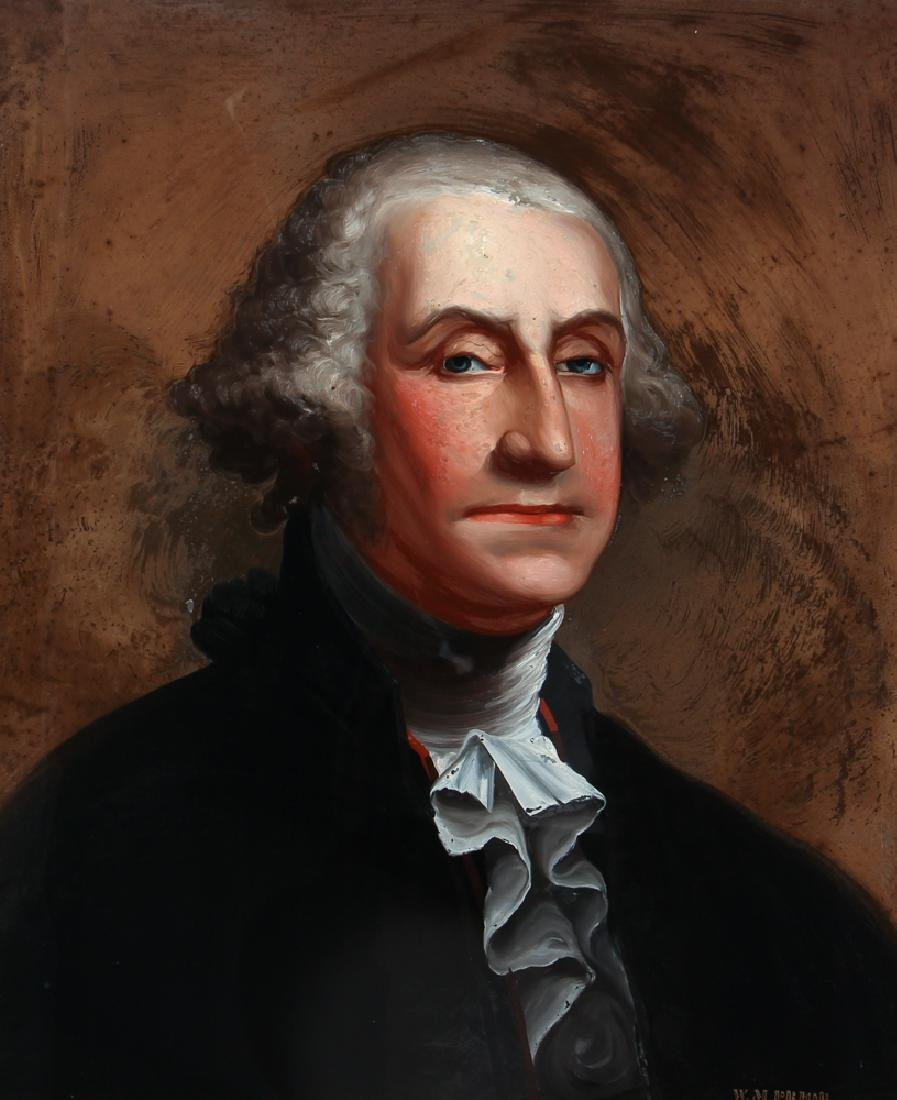 William Matthew Prior reverse glass Portrait of George