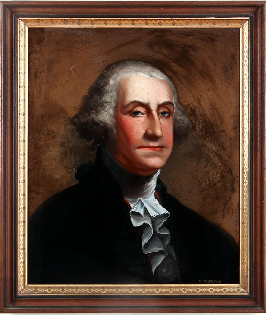 William Matthew Prior reverse glass Portrait of George - 2