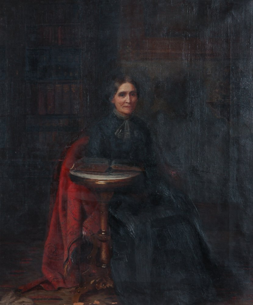 Elizabeth Williams painting Woman in the Library