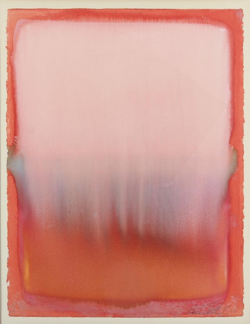 1982 Color Field Abstraction watercolor