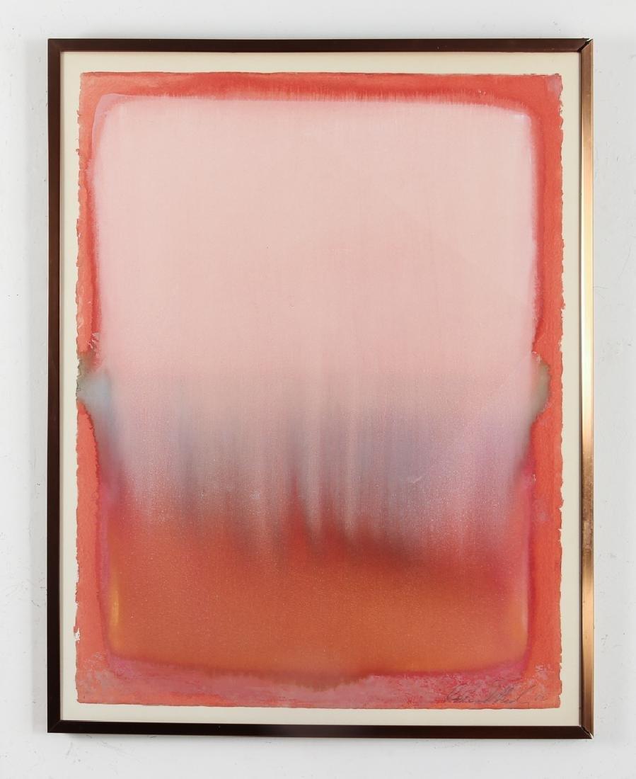 1982 Color Field Abstraction watercolor - 2