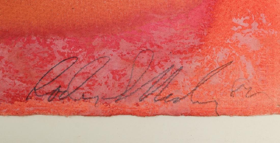 1982 Color Field Abstraction watercolor - 3