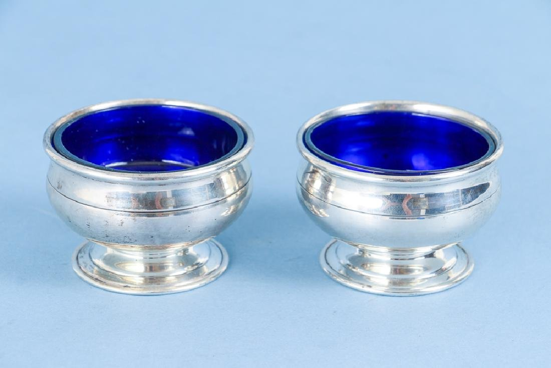 Sterling Silver and Cobalt Salt and Pepper - 5