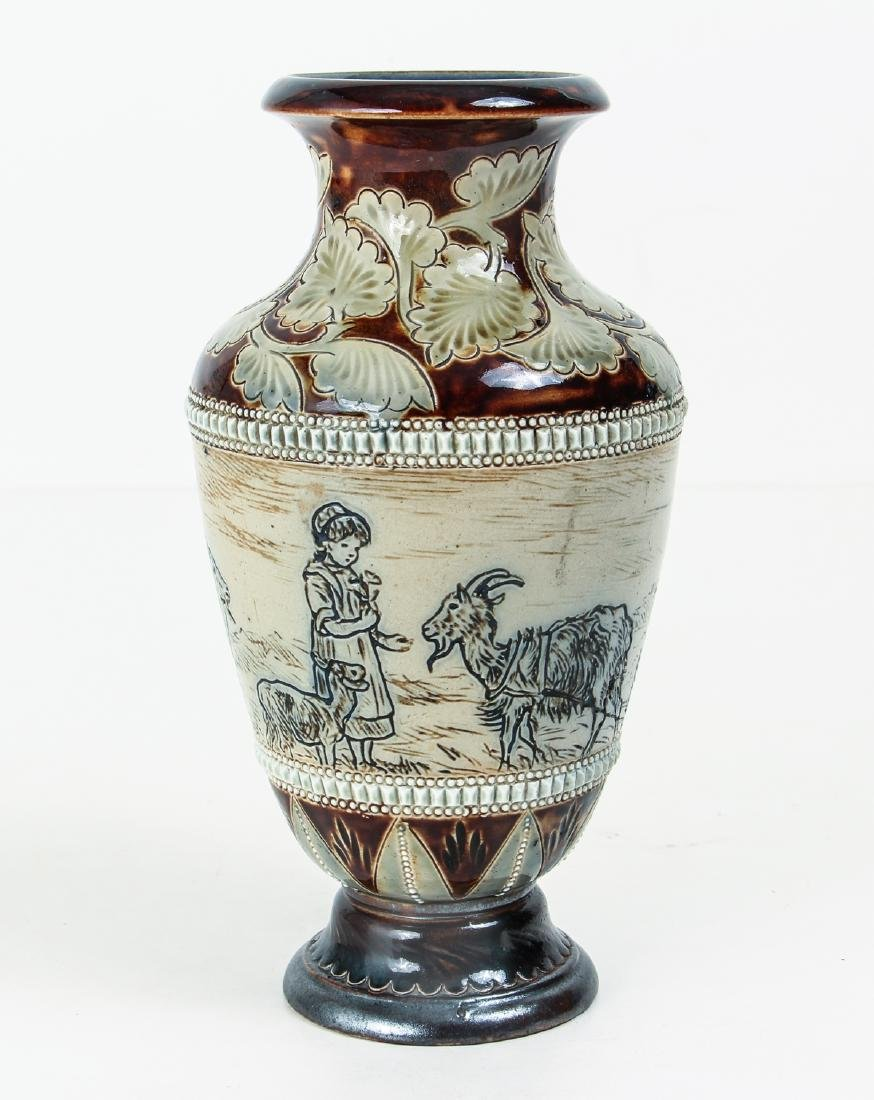 Doulton Lambeth by Hannah Barlow, Vase with children