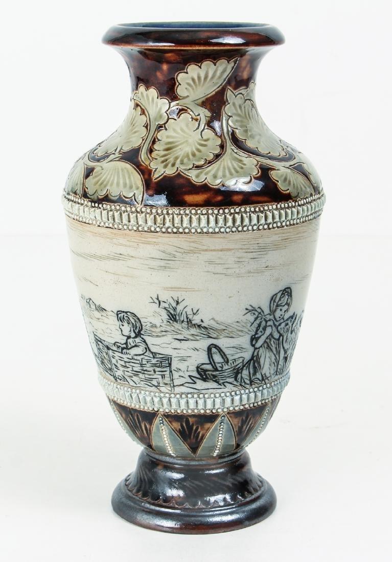 Doulton Lambeth by Hannah Barlow, Vase with children - 2