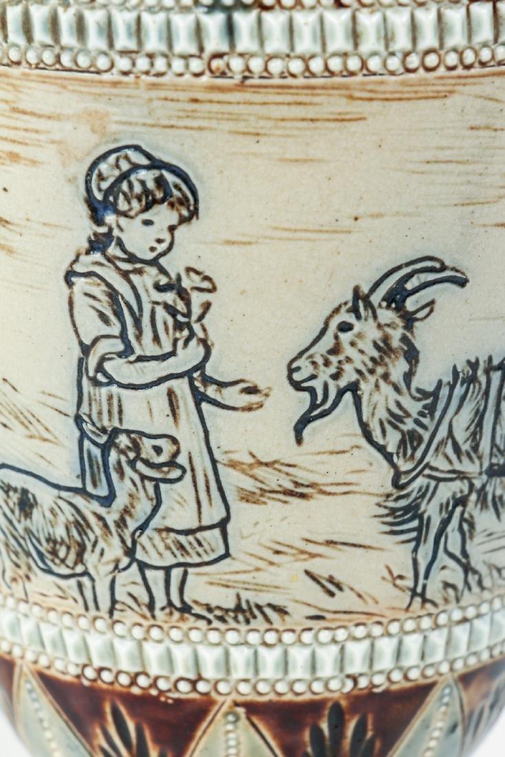 Doulton Lambeth by Hannah Barlow, Vase with children - 4