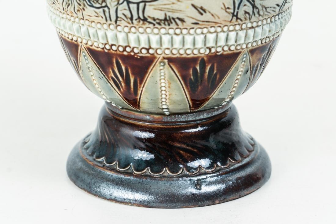 Doulton Lambeth by Hannah Barlow, Vase with children - 5