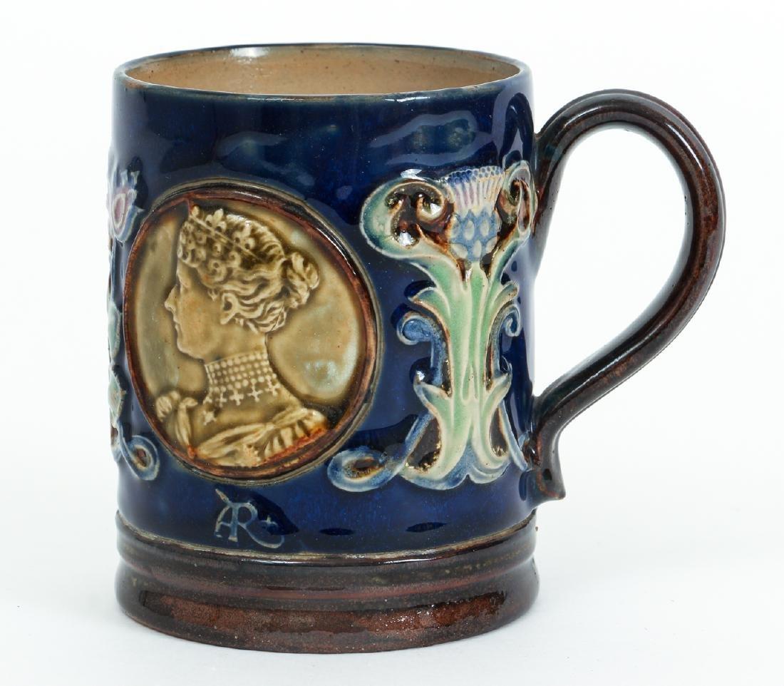 Doulton Lambeth Mug Edward & Alexandra