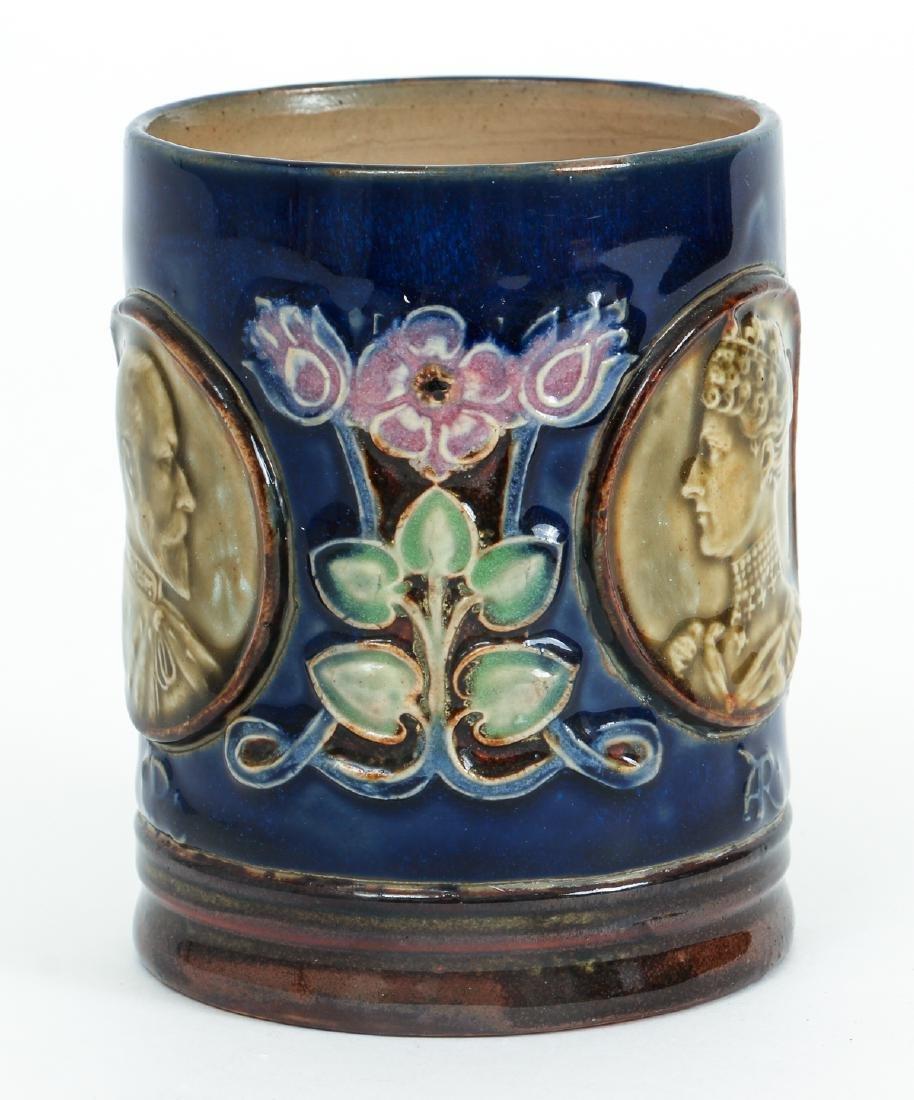 Doulton Lambeth Mug Edward & Alexandra - 2