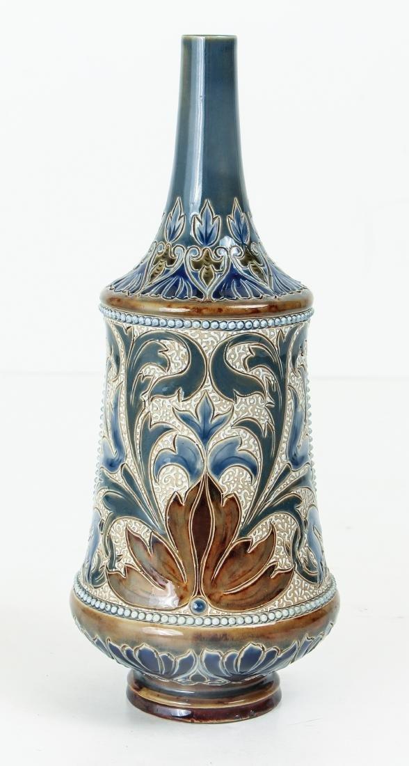 Doulton Lambeth Bottle Vase with Ducks - 2