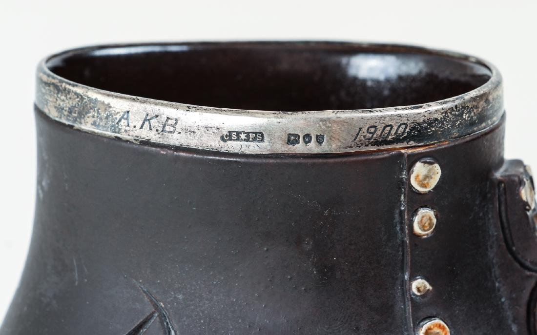 Doulton Lambeth simulated leatherware Motto Jug - 5