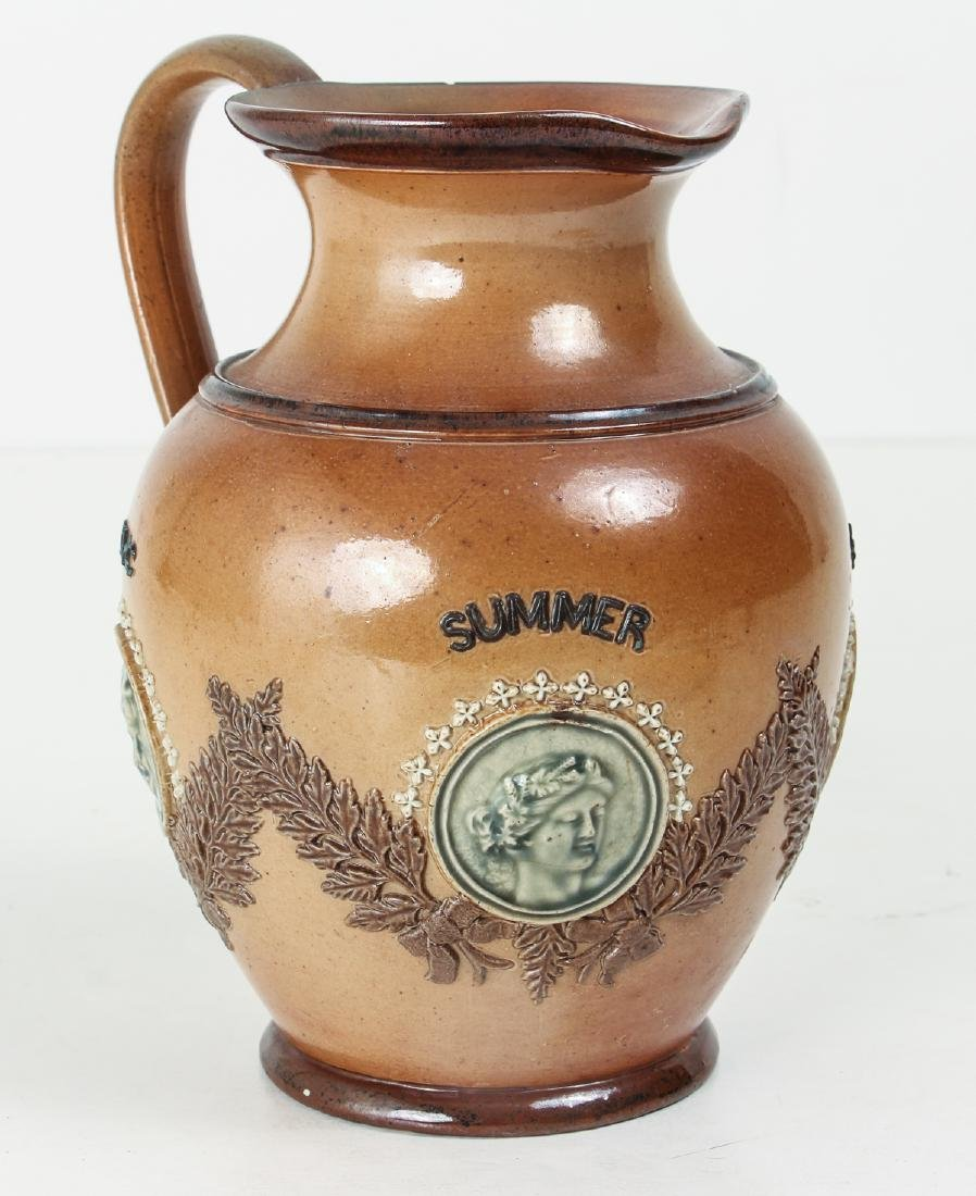 Doulton Lambeth, Four Seasons Jug 1884