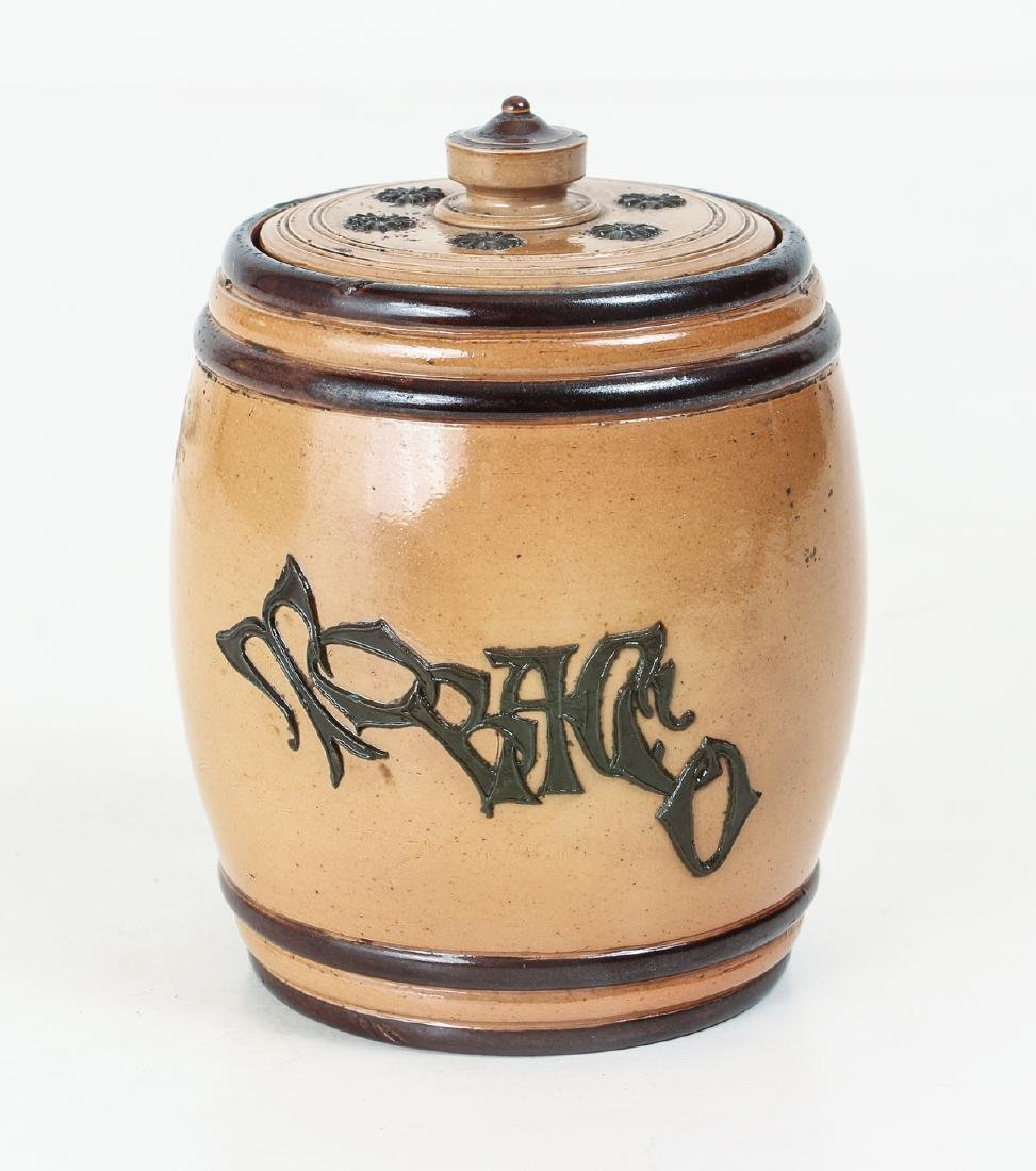 Doulton Lambeth Tobacco Jar - 3