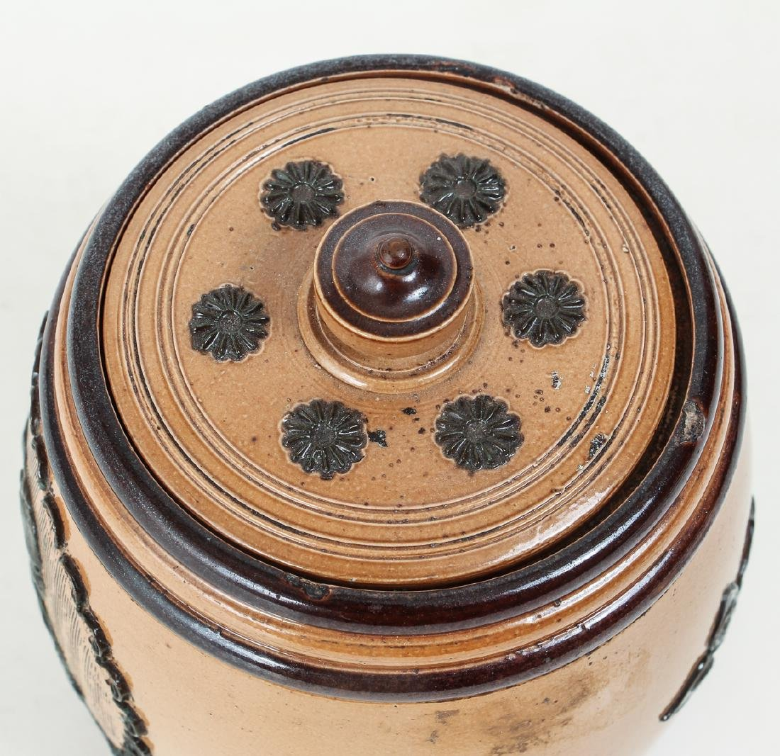 Doulton Lambeth Tobacco Jar - 5
