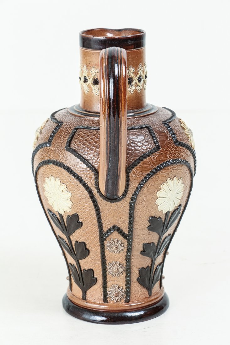 2 Doulton Lambeth Jugs with Sunflowers, 1880-1891 - 10