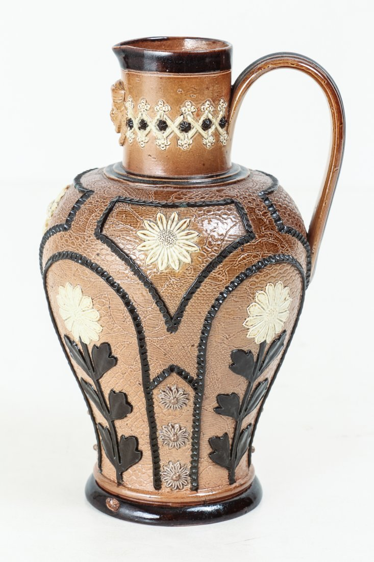 2 Doulton Lambeth Jugs with Sunflowers, 1880-1891 - 9
