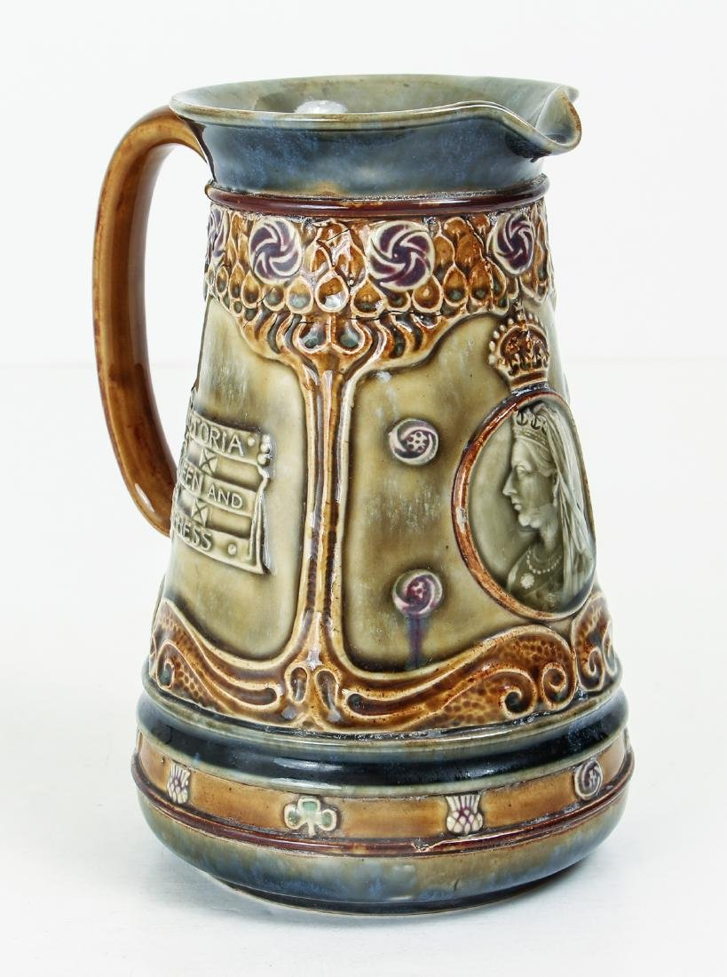 Doulton Lambeth Jug Commemorating the Life of Queen