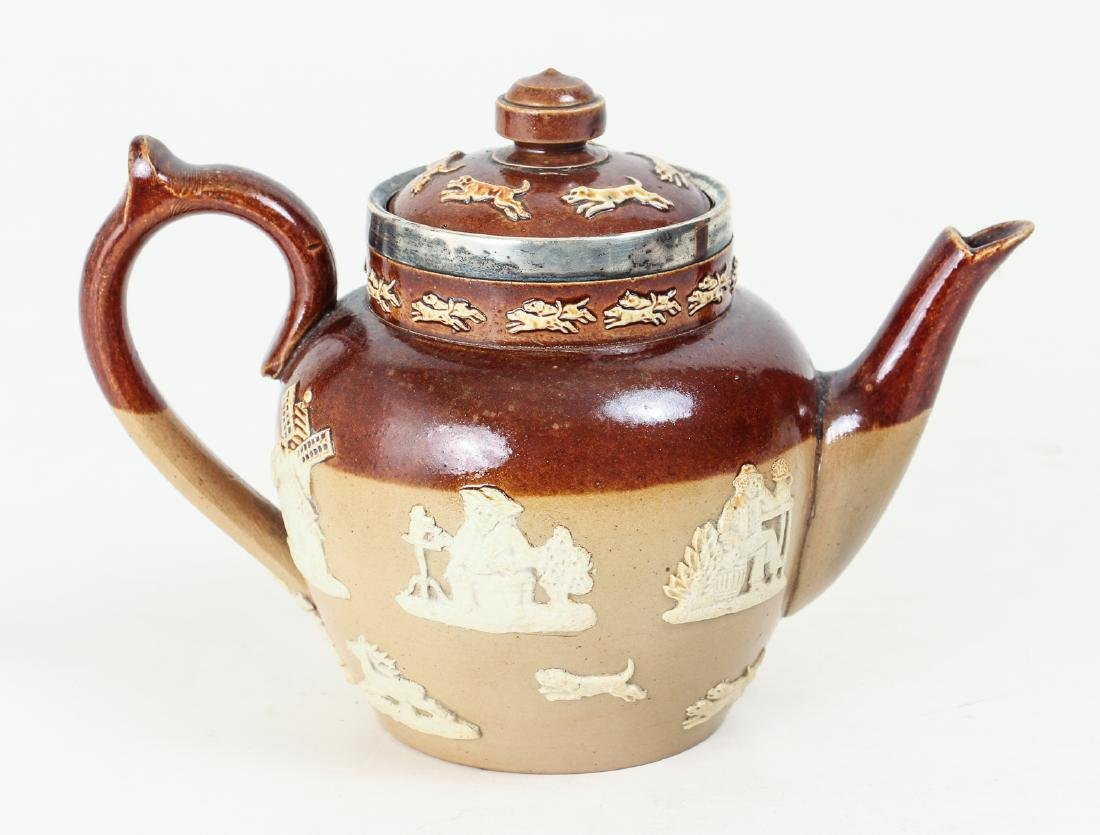 2 Doulton Lambeth lidded pieces, Teapot and Jug - 2