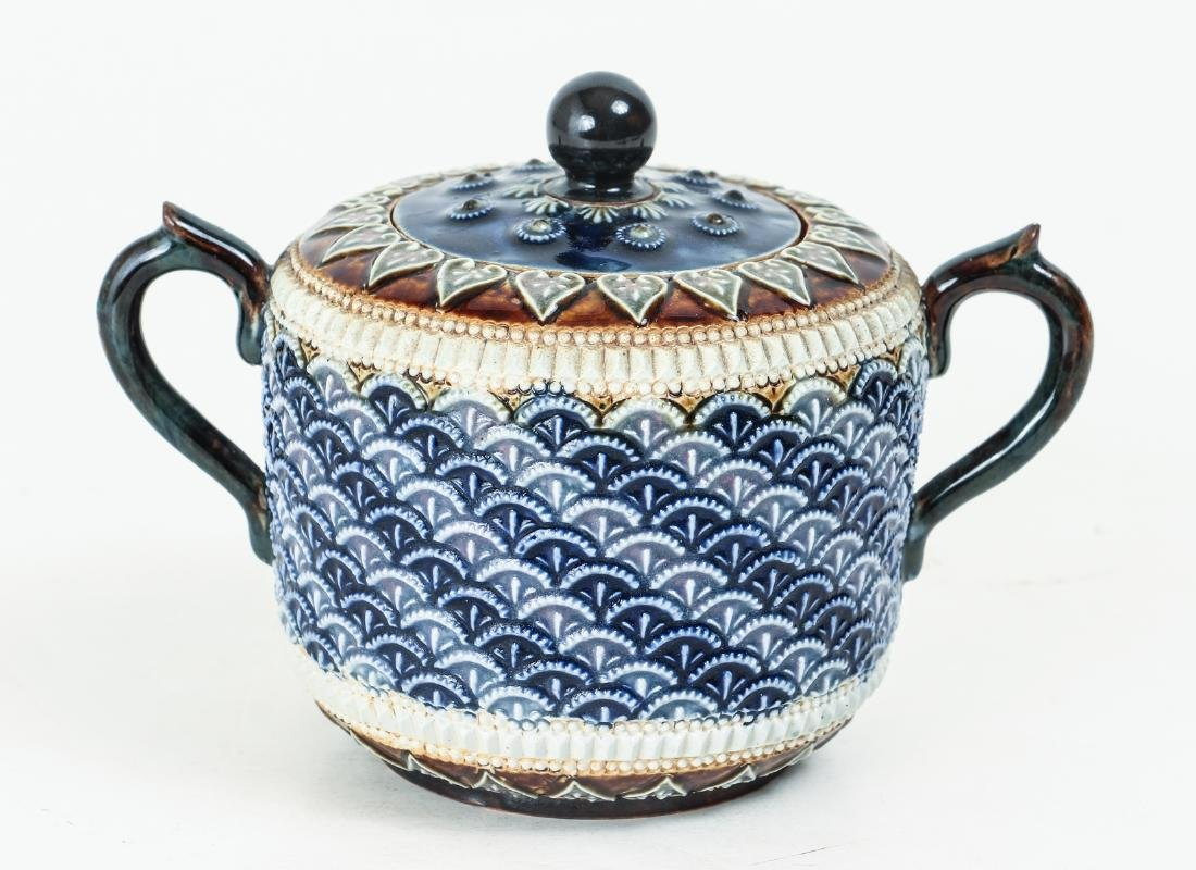 Doulton Lambeth Sugar Jar, 1885