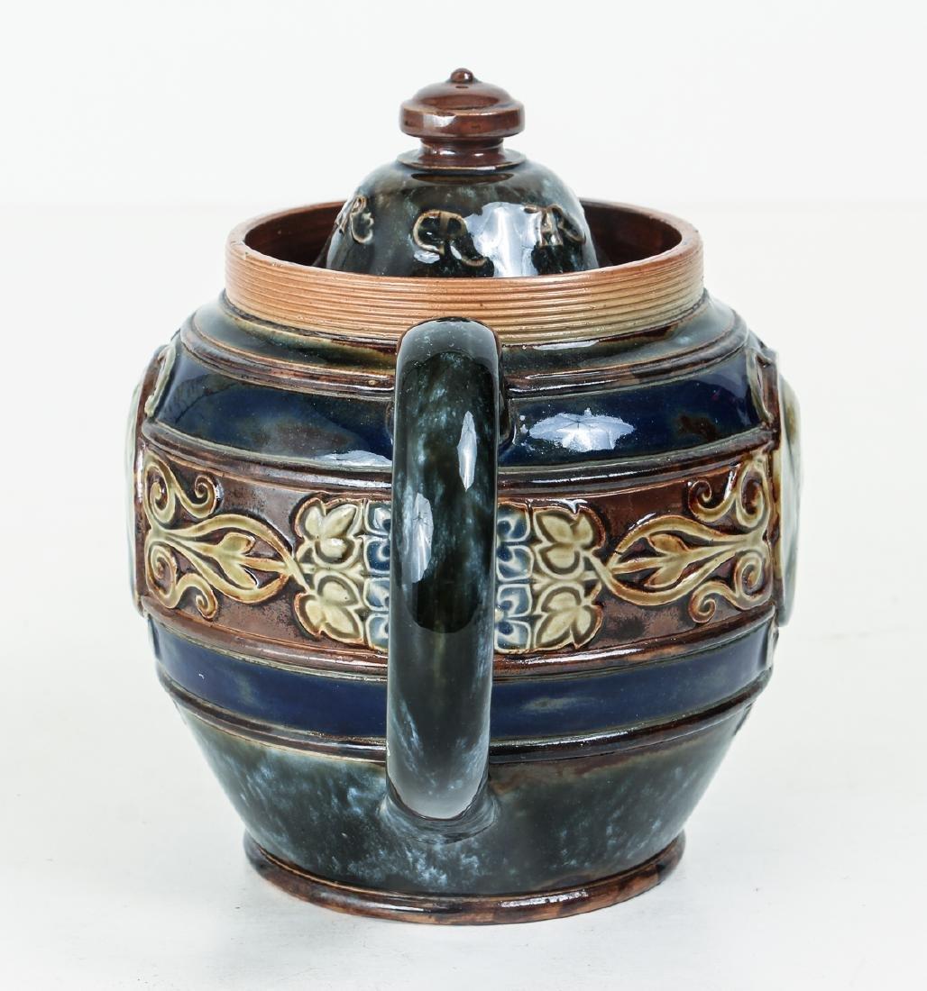 Doulton Lambeth Teapot commemorative  Edward & - 4
