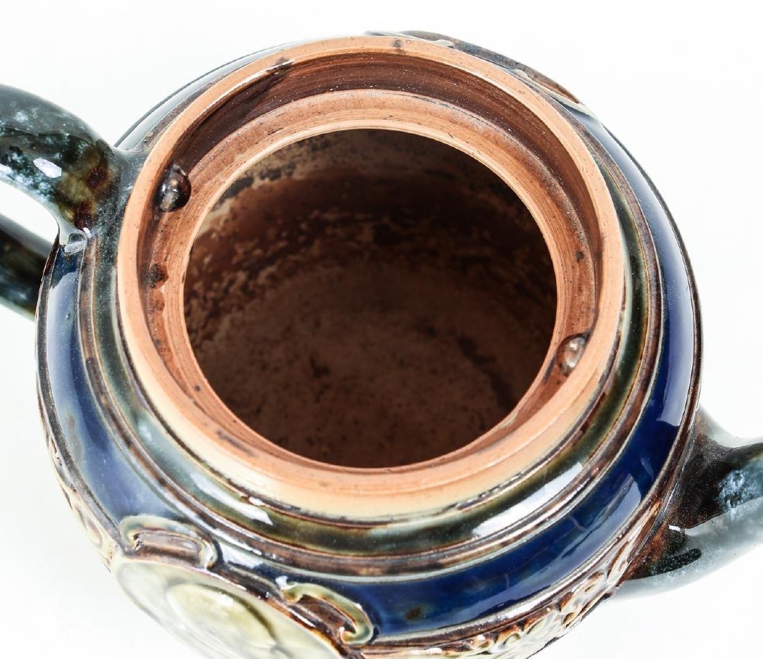 Doulton Lambeth Teapot commemorative  Edward & - 6
