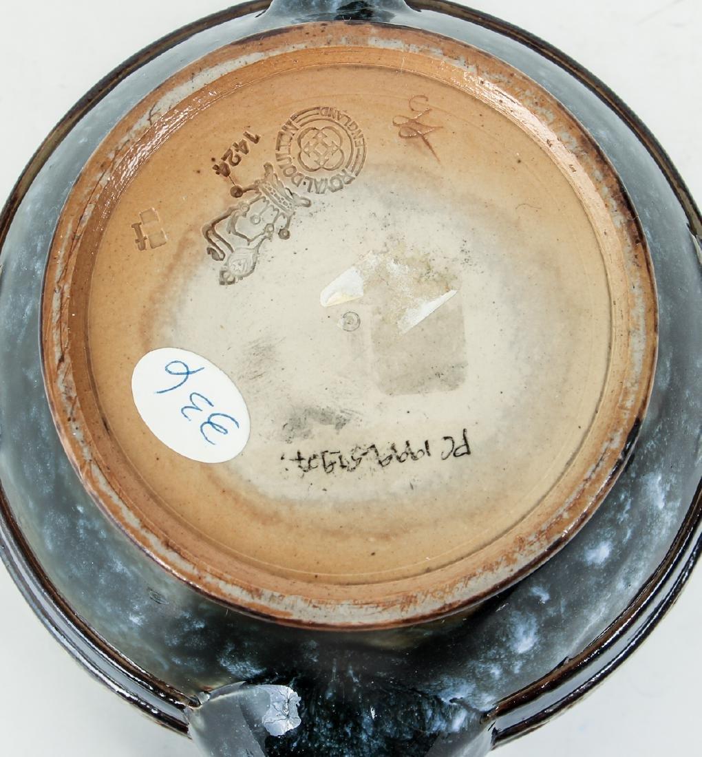 Doulton Lambeth Teapot commemorative  Edward & - 7