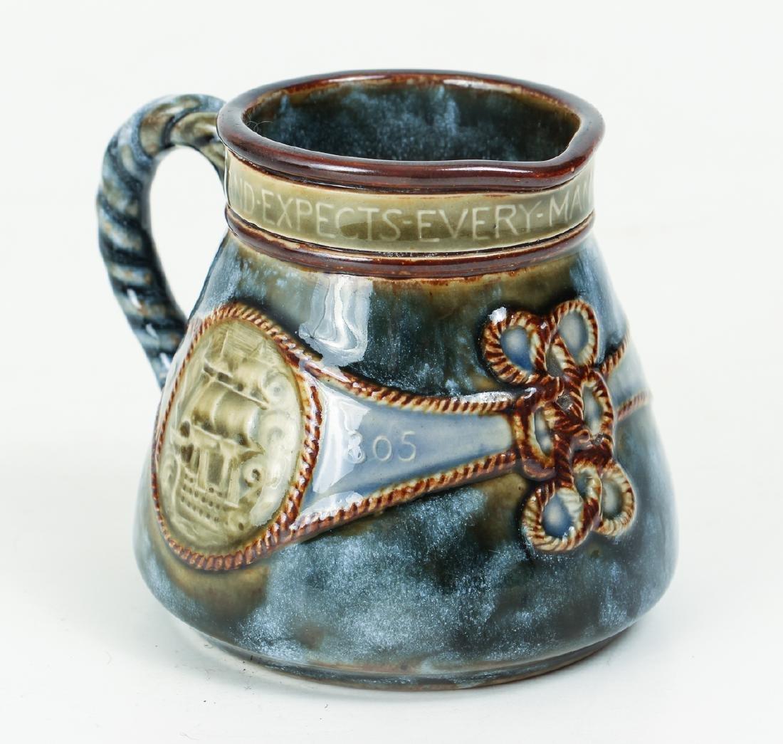 5 smaller Doulton Lambeth jugs, cups, beaker - 10