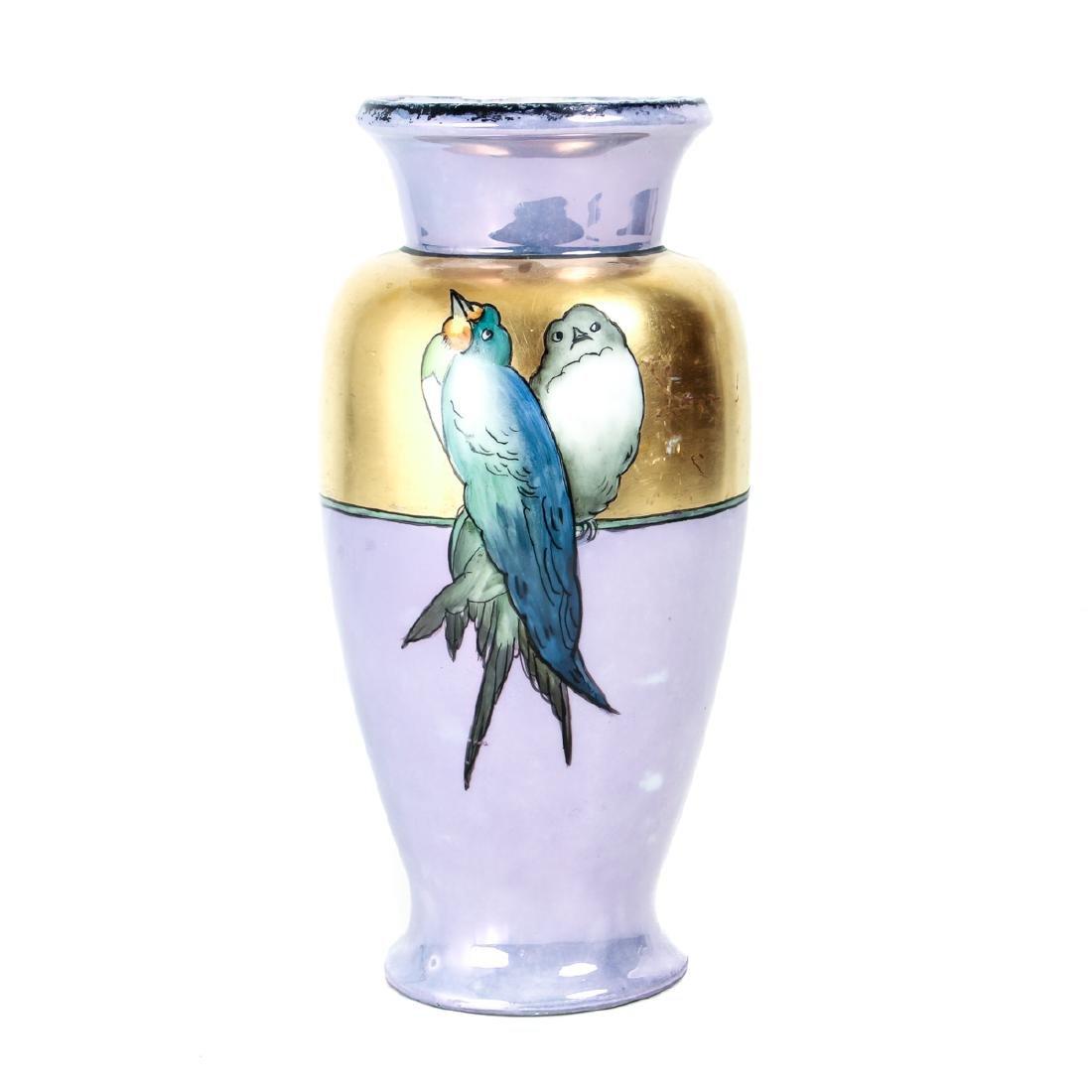 Hand Painted Victorian China Vase - 2