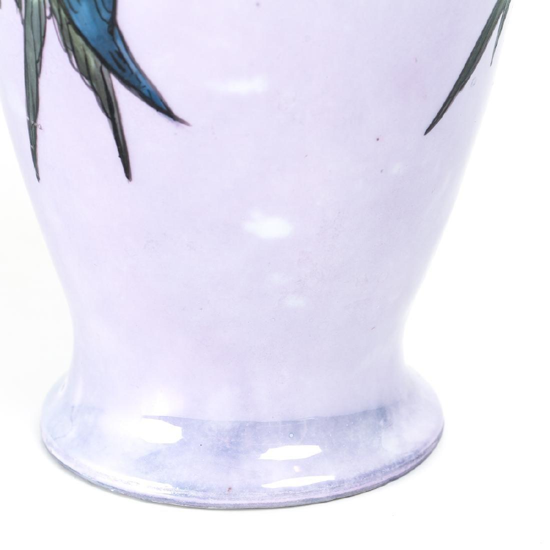 Hand Painted Victorian China Vase - 8