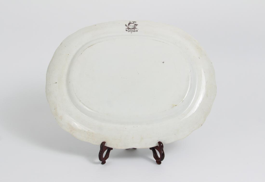 Staffordshire Columbus Transferware Platter - 3