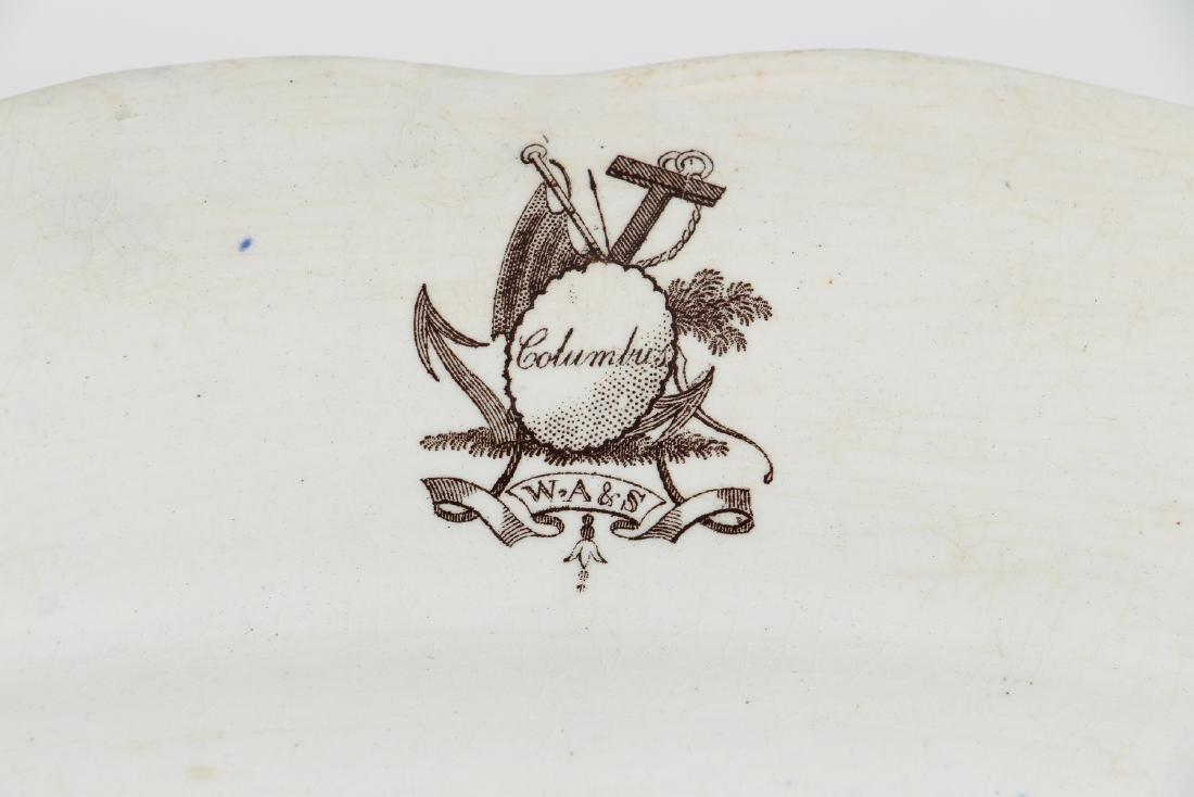 Staffordshire Columbus Transferware Platter - 4