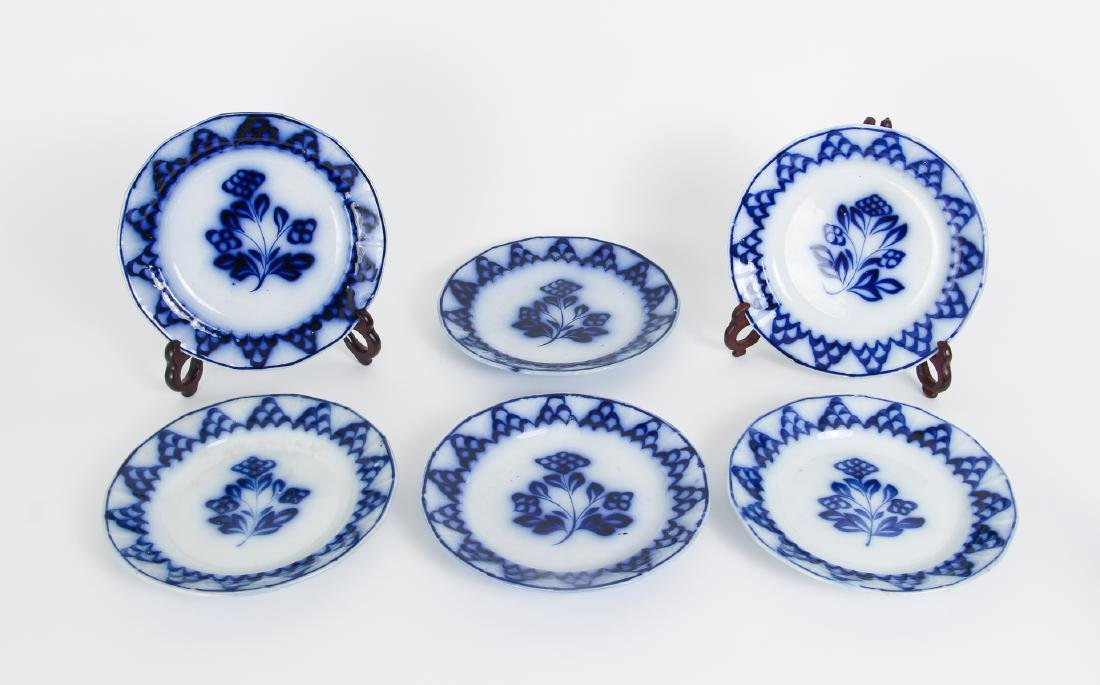 Nineteen Pieces of Flo Blue China - 2