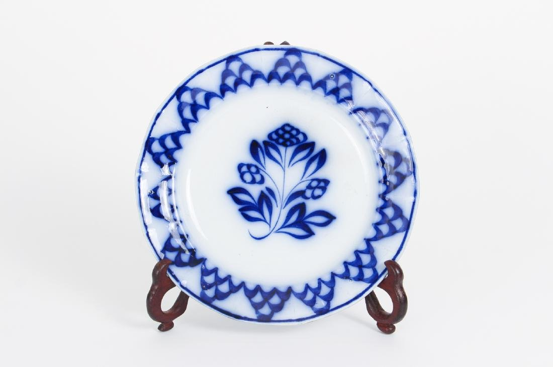 Nineteen Pieces of Flo Blue China - 3