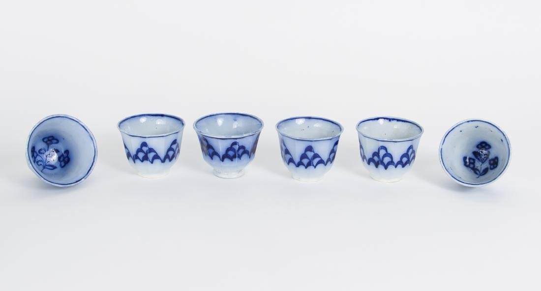 Nineteen Pieces of Flo Blue China - 8
