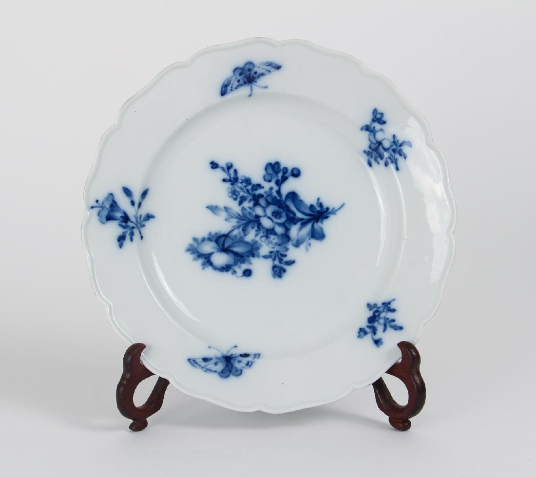 Two Meissen Blue Flower and Insect Bowls - 2